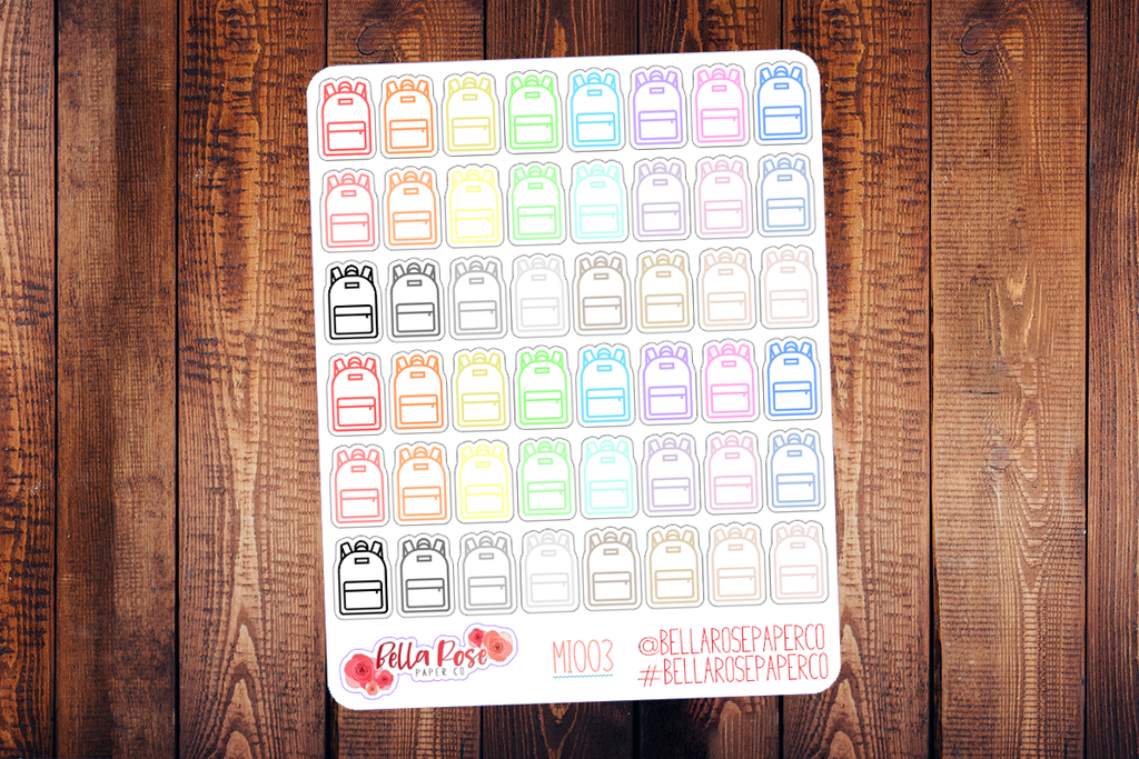 Backpack Mini Icon Planner Stickers MI003