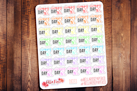 Cleaning Day Icon Planner Stickers DI033
