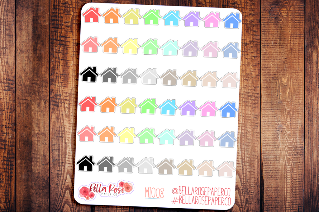 House Mini Icon Planner Stickers MI008