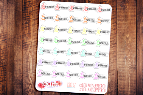 Workout Icon Planner Stickers DI032