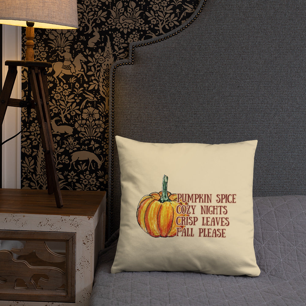 Fall Please Throw Pillow