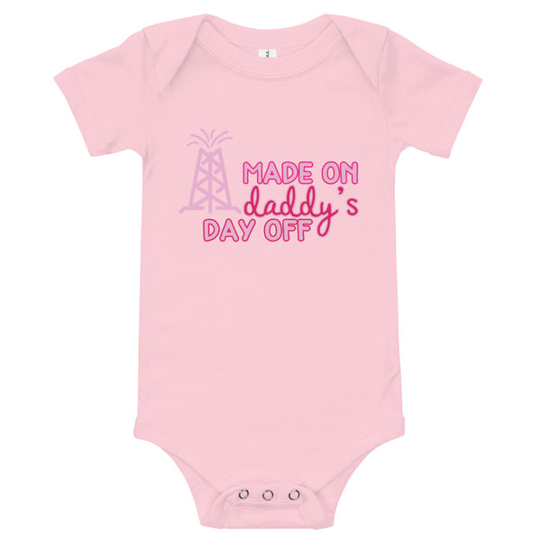 Made On Daddy's Day Off Girl's Baby Onesie
