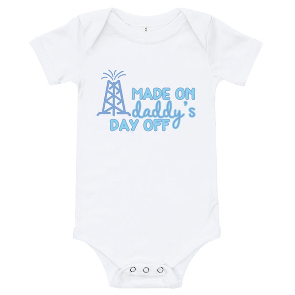 Made On Daddy's Day Off Boy's Baby Onesie