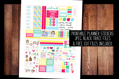Mom Life Hobonichi Weeks Kit | PRINTABLE PLANNER STICKERS