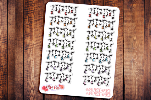 Starts and Moons Doodle Hand Drawn Planner Stickers
