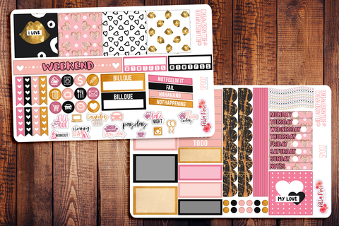 My Love Valentine's Day Mini Happy Planner Sticker Kit SP002