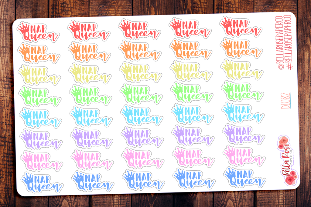 Nap Queen Planner Stickers DI083