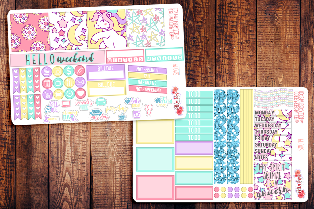 Unicorn Mini Happy Planner Sticker Kit SM014