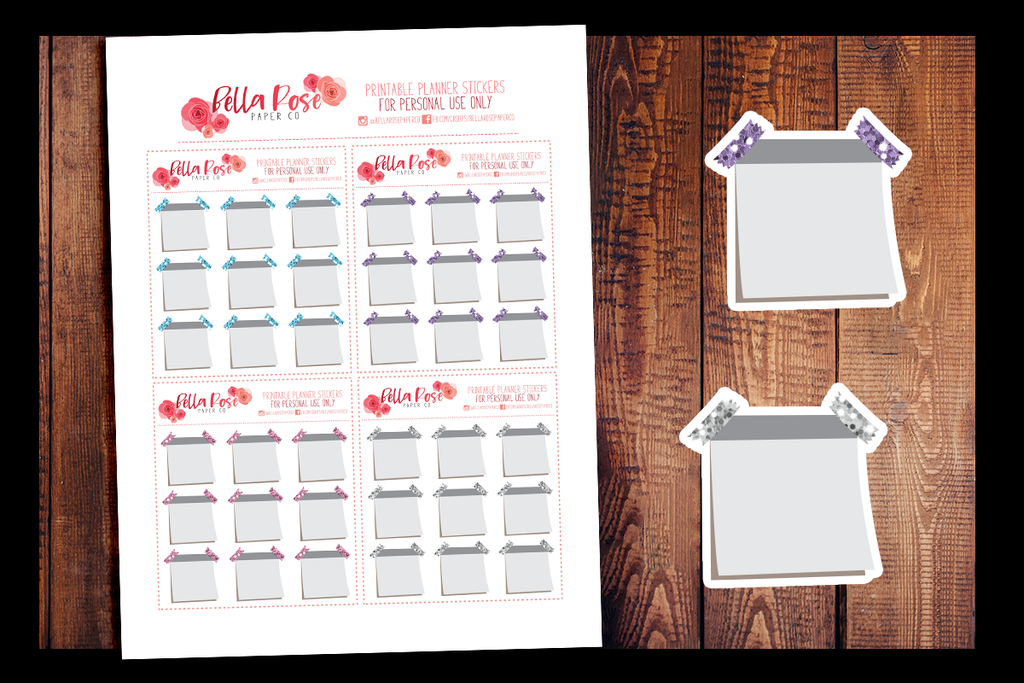 photograph about Printable Sticky Notes identify Glitter Sticky Notes PRINTABLE PLANNER STICKERS