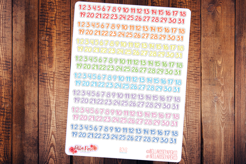 Basic Bold Date Covers Planner Stickers B043