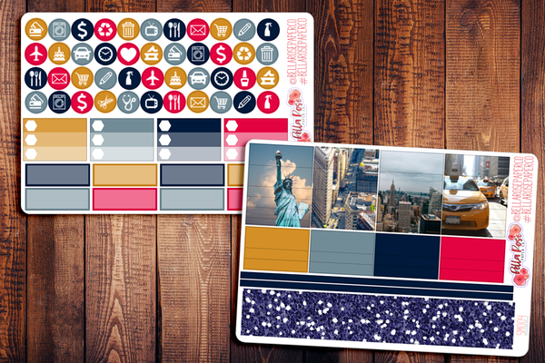 New York City Photography Planner Sticker Kit SM004