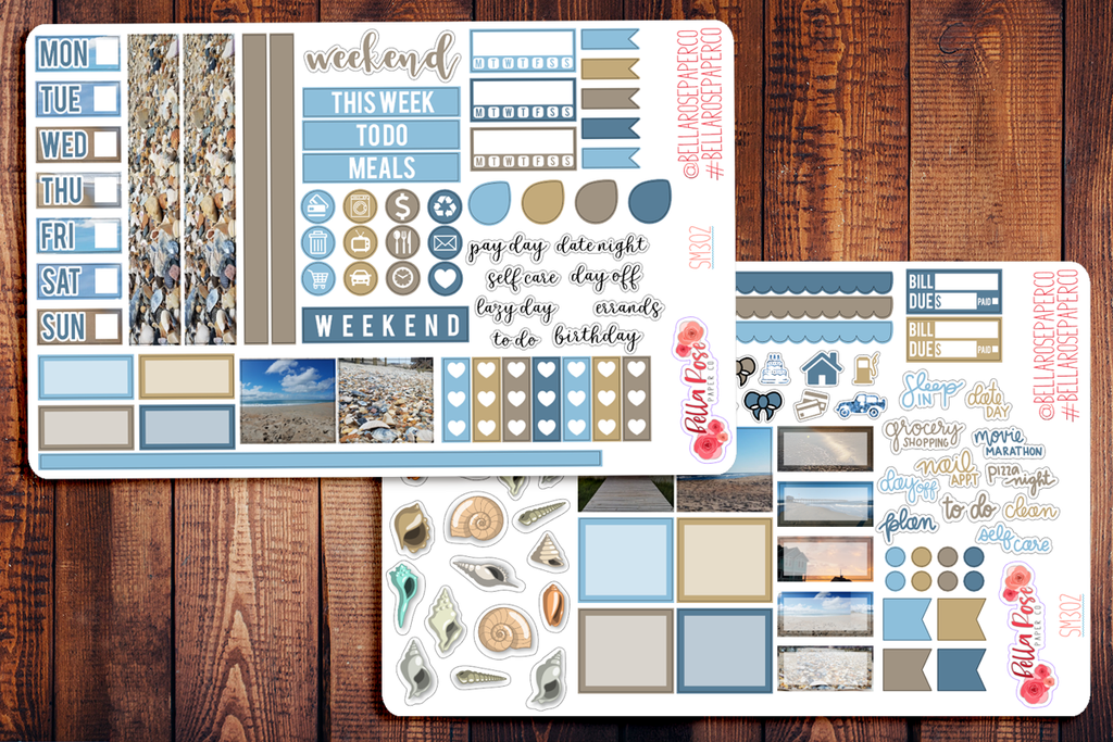 Outer Banks Photo Hobonichi Weeks Sticker Kit SM302
