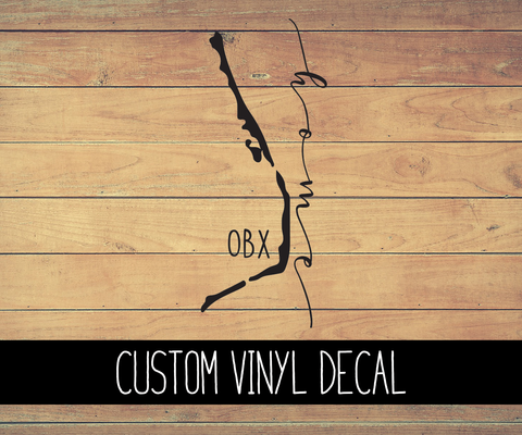 OBX Islands Home Vinyl Decal