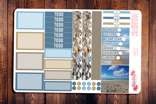 Outer Banks Photo Mini Happy Planner Sticker Kit SM302
