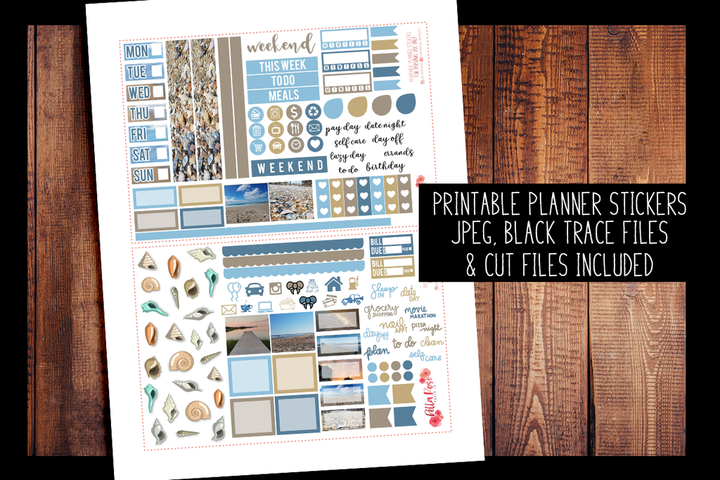 Outer Banks Photo Hobonichi Weeks Kit | PRINTABLE PLANNER STICKERS