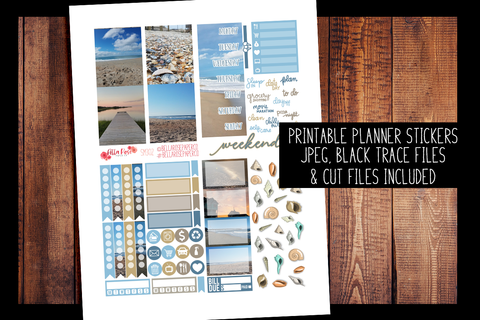 Outer Banks Photo Mini Planner Kit | PRINTABLE PLANNER STICKERS