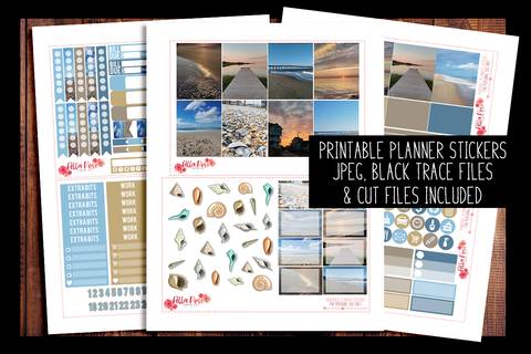 Outer Banks Photo Planner Kit | PRINTABLE PLANNER STICKERS