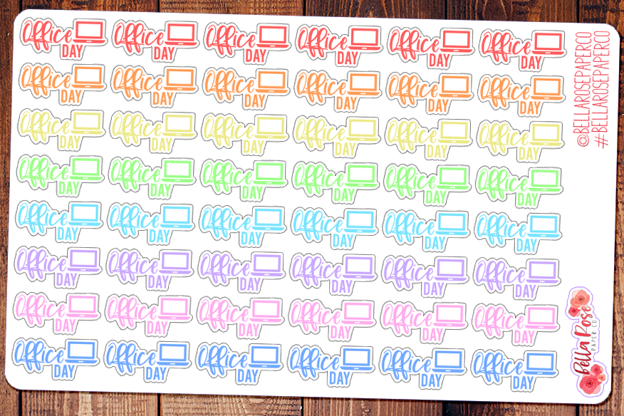 Office Day Lettering Planner Stickers
