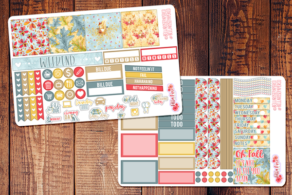 Oh Fall Mini Happy Planner Sticker Kit F001