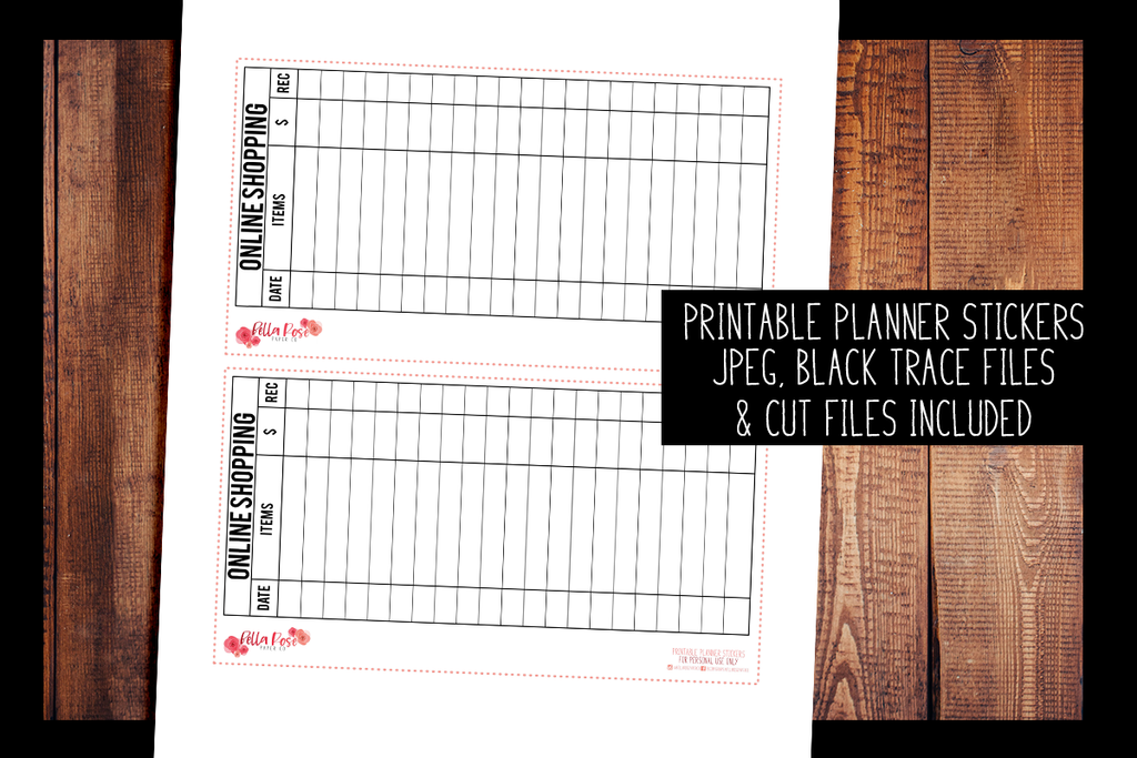 Online Shopping Full Page Hobonichi Weeks Sticker | PRINTABLE PLANNER STICKERS