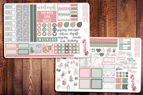 Sweet Holidays Hobonichi Weeks Sticker Kit W302