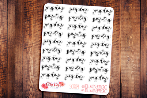 Payday Script Planner Stickers SC004