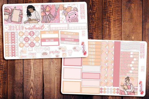 Planner Peach Mini Happy Planner Sticker Kit SM018