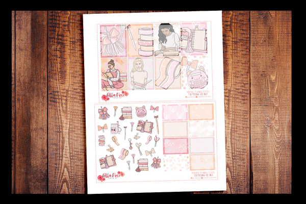 Planner Peach Kit | PRINTABLE PLANNER STICKERS