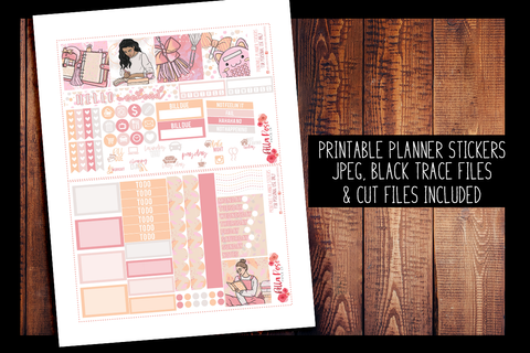 Planner Peach Mini Happy Planner Kit | PRINTABLE PLANNER STICKERS