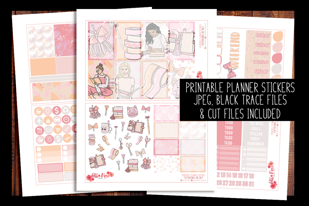 Planner Peach Happy Planner Kit | PRINTABLE PLANNER STICKERS
