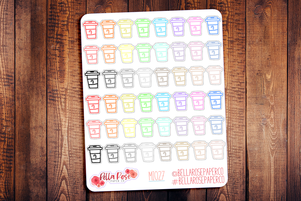Peppermint Latte Mini Icon Planner Stickers MI027
