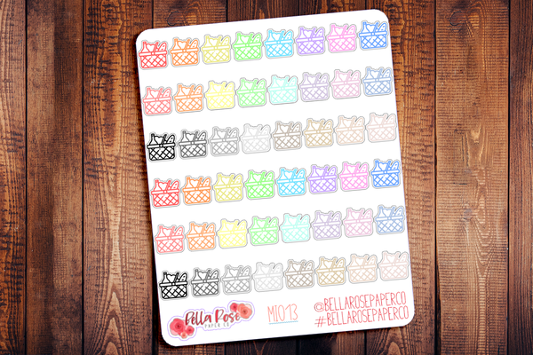 Picnic Basket Mini Icon Planner Stickers MI013