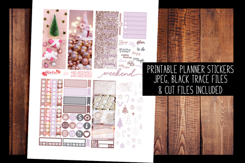 Pinkmas Mini Planner Kit | PRINTABLE PLANNER STICKERS