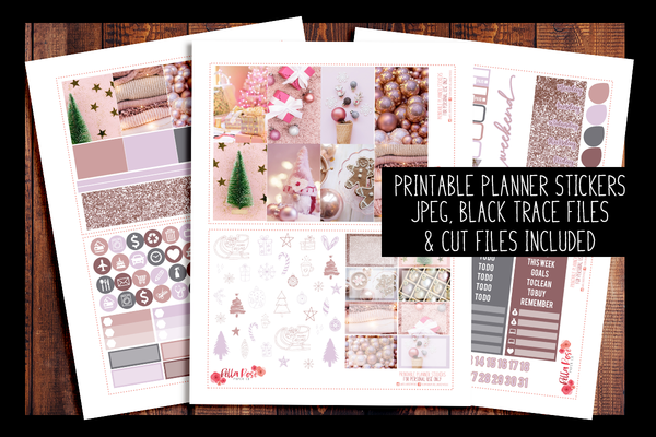 Pinkmas Happy Planner Kit | PRINTABLE PLANNER STICKERS