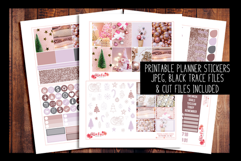 Pinkmas Planner Kit | PRINTABLE PLANNER STICKERS