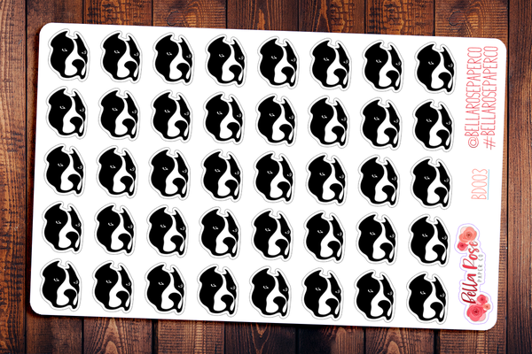 Pitbull Pet Planner Stickers BD003