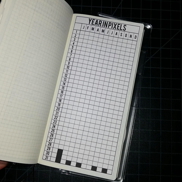 Year in Pixels Hobonichi Weeks Full Page Sticker HWI004