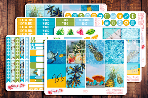 Pool Party Photo Planner Sticker Kit SM201