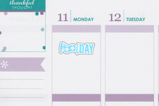 Pool Day Lettering Planner Stickers