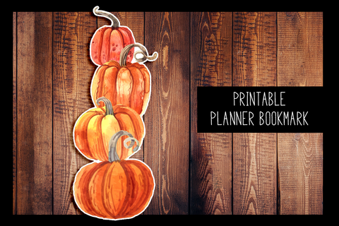 Pumpkin Planner Bookmark | PRINTABLE DIGITAL BOOKMARK