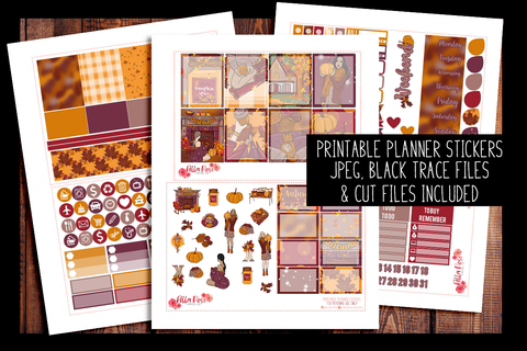 Pumpkin Spice Planner Kit | PRINTABLE PLANNER STICKERS