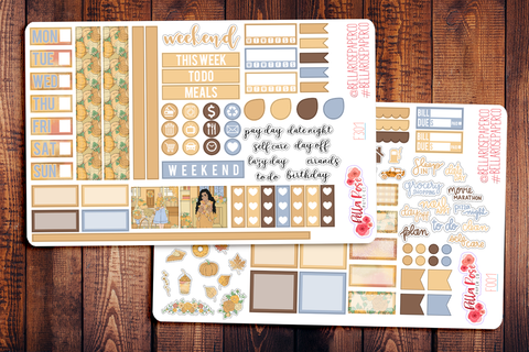 Pumpkin Spice Season Hobonichi Weeks Sticker Kit F301