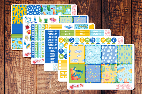 April Showers Spring Planner Sticker Kit