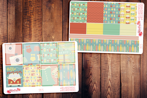 Retro Summer Planner Sticker Kit SM015