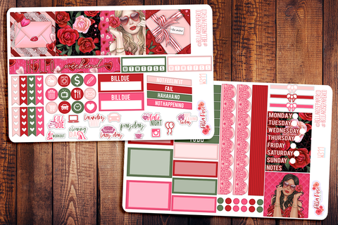 Romance Mini Happy Planner Sticker Kit W311