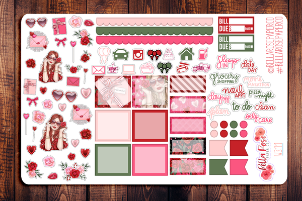 Romance Hobonichi Weeks Sticker Kit W311