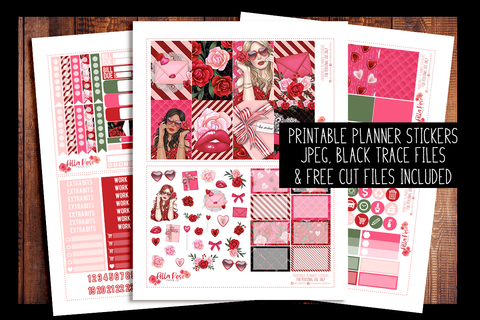 Romance Happy Planner Kit | PRINTABLE PLANNER STICKERS