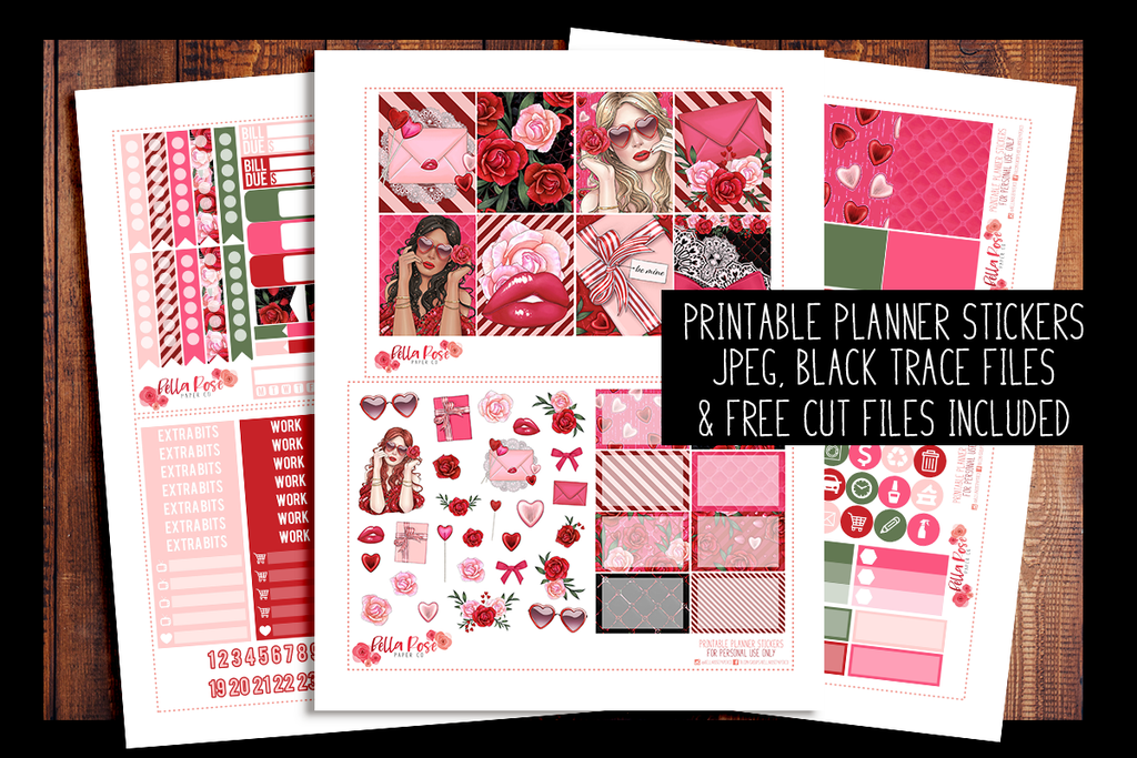 Romance Planner Kit | PRINTABLE PLANNER STICKERS
