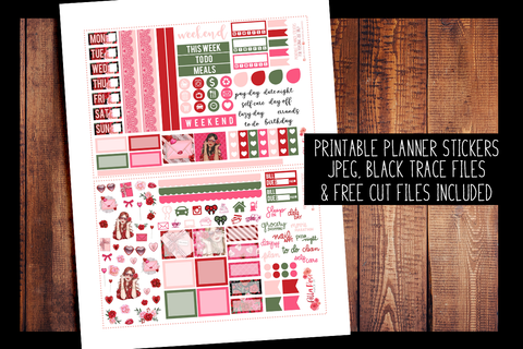 Romance Hobonichi Weeks Kit | PRINTABLE PLANNER STICKERS