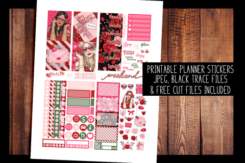Romance Mini Planner Kit | PRINTABLE PLANNER STICKERS